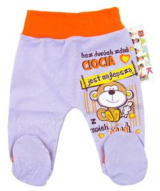 Półśpiochy Dziecięce Bezuciskowe rozmiar 68. Są miękkie i delikatne w dotyku, niezastąpione w wyprawce niemowlęcej.