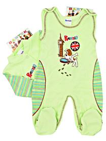 Zielony komplet niemowlęcy rozmiar 56