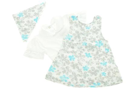 Komplet Białe Body i Sukienka dla Dziewczynki 86 (1)