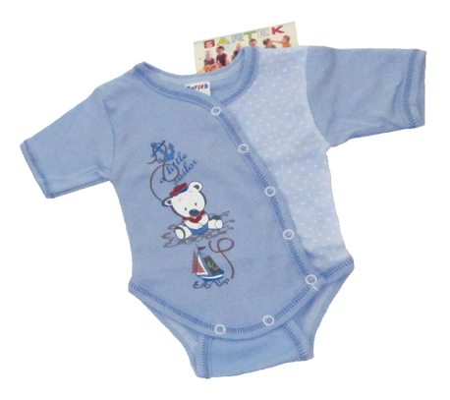 Body niemowlęce krótki rękaw rozpinane koperta są wykonane z atestowanej polskiej 100% bawełny przez polskiego producenta. Są miękkie i delikatne w dotyku. Niezastąpione w wyprawce niemowlęcej. Body dla noworodka ma rozmiar 56.