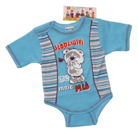 Body niemowlęce krótki rękaw są wykonane z atestowanej polskiej 100% bawełny przez polskiego producenta. Są miękkie i delikatne w dotyku. Niezastąpione w wyprawce niemowlęcej. Body dla noworodka ma rozmiar 74.
