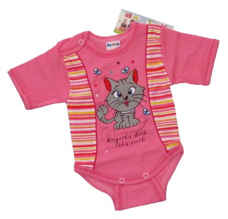 Body niemowlęce krótki rękaw są wykonane z atestowanej polskiej 100% bawełny przez polskiego producenta. Są miękkie i delikatne w dotyku. Niezastąpione w wyprawce niemowlęcej. Body dla noworodka ma rozmiar 98.
