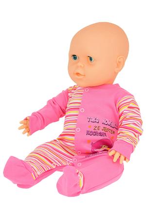 Bawełniany Pajacyk Dziecięcy rozmiar 74. Idealna Jednoczęściowa Piżamka do spania, która zapobiega odsłanianiu delikatnego ciała. Niezbędny w wyprawce niemowlęcej.