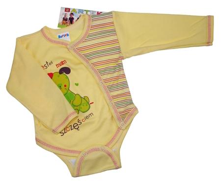 Body niemowlęce długi rękaw rozpinane koperta są wykonane z atestowanej polskiej 100% bawełny przez polskiego producenta. Są miękkie i delikatne w dotyku. Niezastąpione w wyprawce niemowlęcej. Body dla noworodka ma rozmiar 50.
