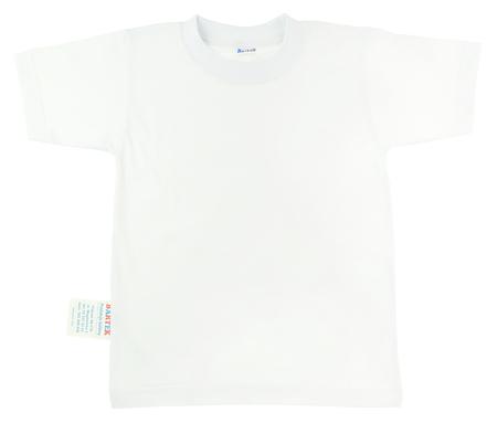 Bawełniana Koszulka T-Shirt Biały WF rozmiar 140. Jest miękki i delikatny w dotyku idealny na zajęcia Gimnastyczne w szkole.