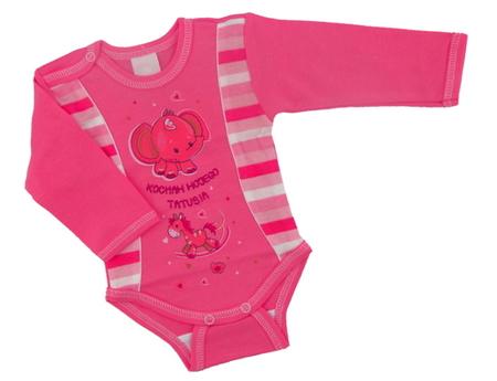 Body niemowlęce długi rękaw są wykonane z atestowanej polskiej 100% bawełny przez polskiego producenta. Są miękkie i delikatne w dotyku. Niezastąpione w wyprawce niemowlęcej. Body dla noworodka ma rozmiar 56.