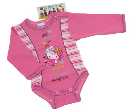 Body niemowlęce długi rękaw rozmiar 68, są miękkie i delikatne w dotyku. Niezastąpione w wyprawce niemowlęcej.