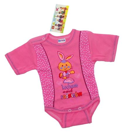 Body niemowlęce krótki rękaw są wykonane z atestowanej polskiej 100% bawełny przez polskiego producenta. Są miękkie i delikatne w dotyku. Niezastąpione w wyprawce niemowlęcej. Body dla noworodka ma rozmiar 92.