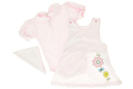 Różowe Body Krótki Rękaw i Sukienka z Chustą 74 (1)