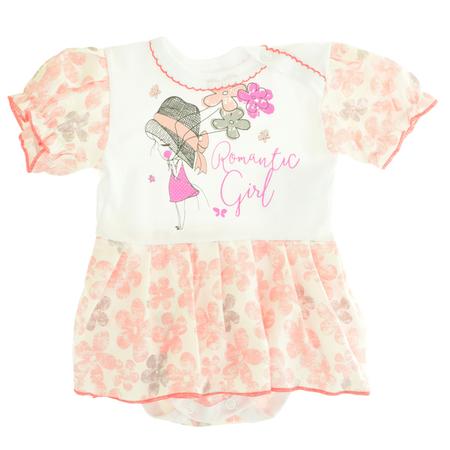 Sukienko Body dla Dziewczynki z Krótkim Rękawem 62 (1)