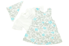 Komplet Białe Body i Sukienka dla Dziewczynki 86 (6)