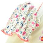 Bawełniane Sukienko Body Krótki Rękaw w Kwiatki 80 (8)