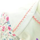 Bawełniane Sukienko Body Krótki Rękaw w Kwiatki 80 (10)