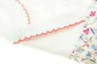Bawełniane Sukienko Body Krótki Rękaw w Kwiatki 80 (12)