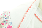 Bawełniane Sukienko Body Krótki Rękaw w Kwiatki 80 (13)